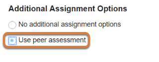 Peer assessment. (Optional)