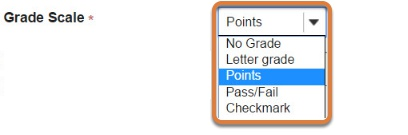 Choose the grade scale.