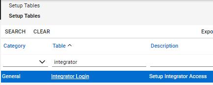 "Click on ""Integrator Login"""