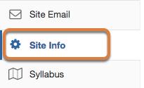 Go to Site Info.