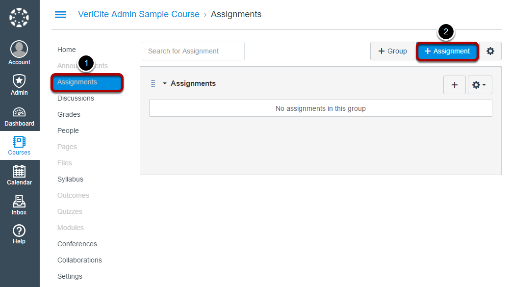 Now, go to Assignments and click + Assignment.
