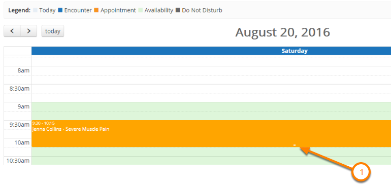 Change the Length of the Appointment