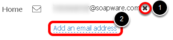 7.  Add or Remove an Email Address