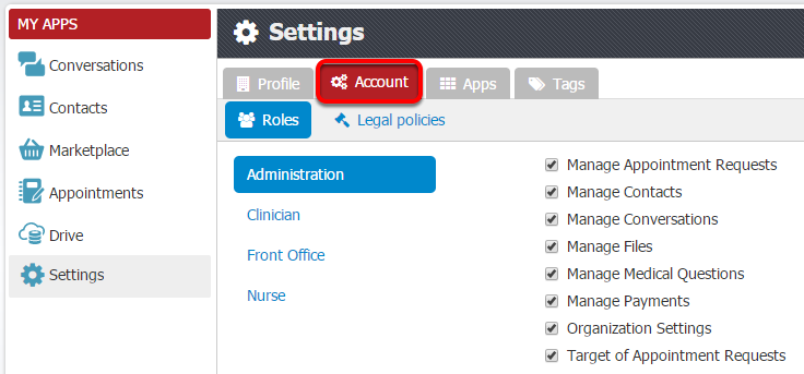2. Manage Roles