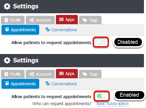 Allow Patients to request appointments
