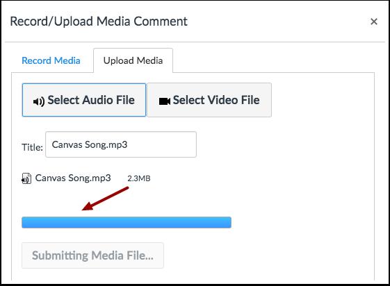 Cargar archivo de audio