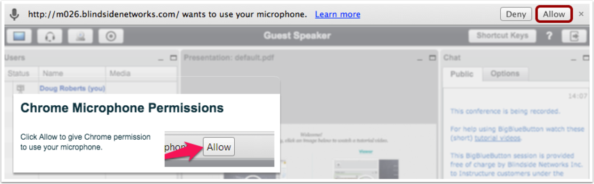 Chrome Microphone Permissions