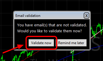 1. Click on Validate now button.