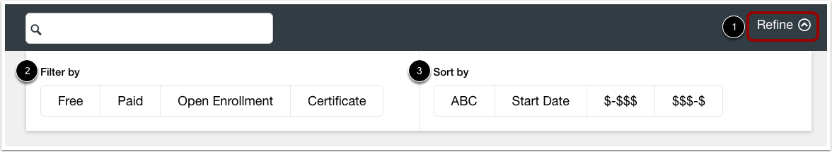 Filter and Sort Listings