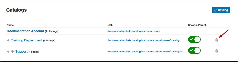 Delete Catalog