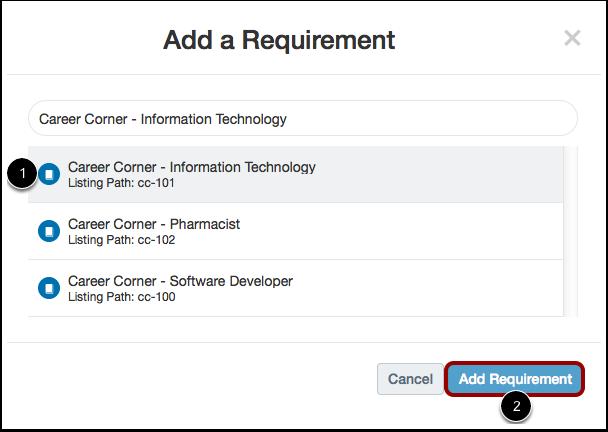 Select Course or Program