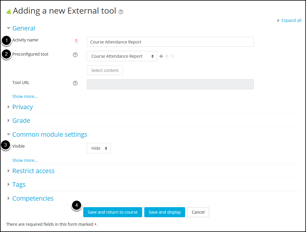 Adding a new external tool