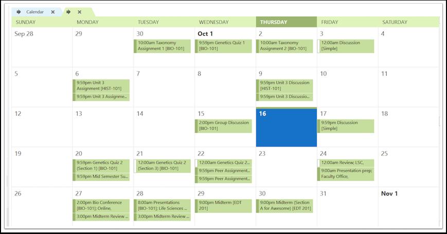 查看订阅的日历