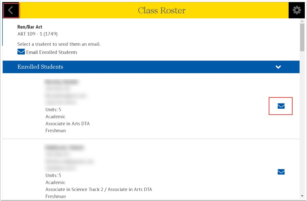 Class Roster Enrolled Students
