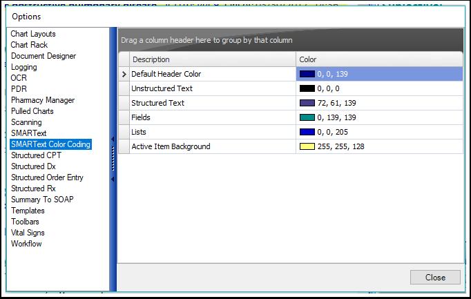 SMARText Color Coding