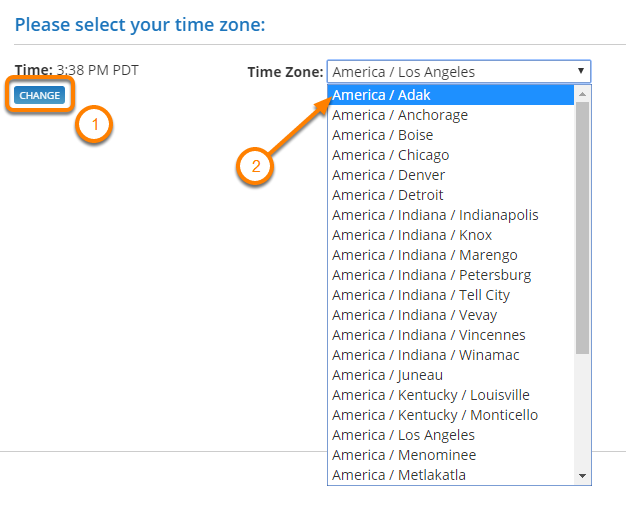 Select Your Timezone