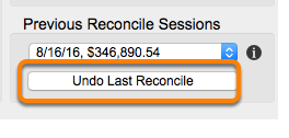 Correcting or Deleting a Reconcile Session