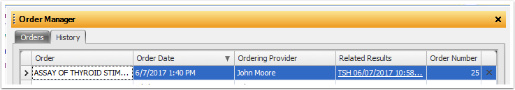 Order Manager History