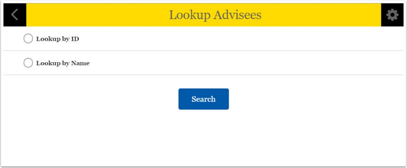Lookup Advisees page