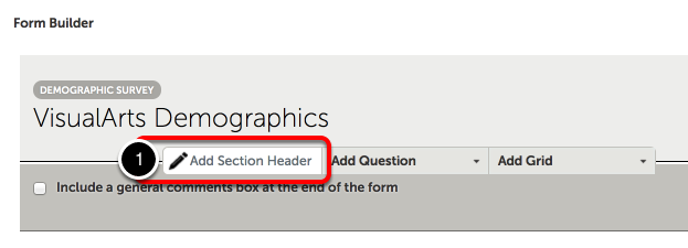 Step 1: Add Section Header