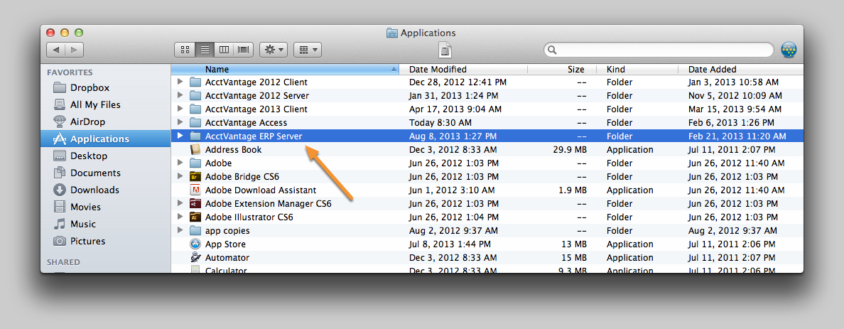 5. Open a new Finder Window and navigate to the Applications folder.