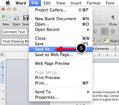 Step 4: Save Document