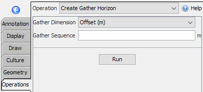 Create gather horizons from IL/CL horizons