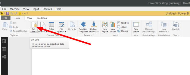 Inside Power BI select Get Data (from the Home tab) and Web