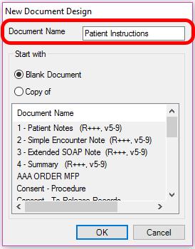 New Document Design
