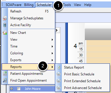 Print various Schedule Reports