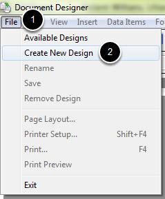File - Create New Design