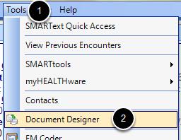 Tools - Document Designer