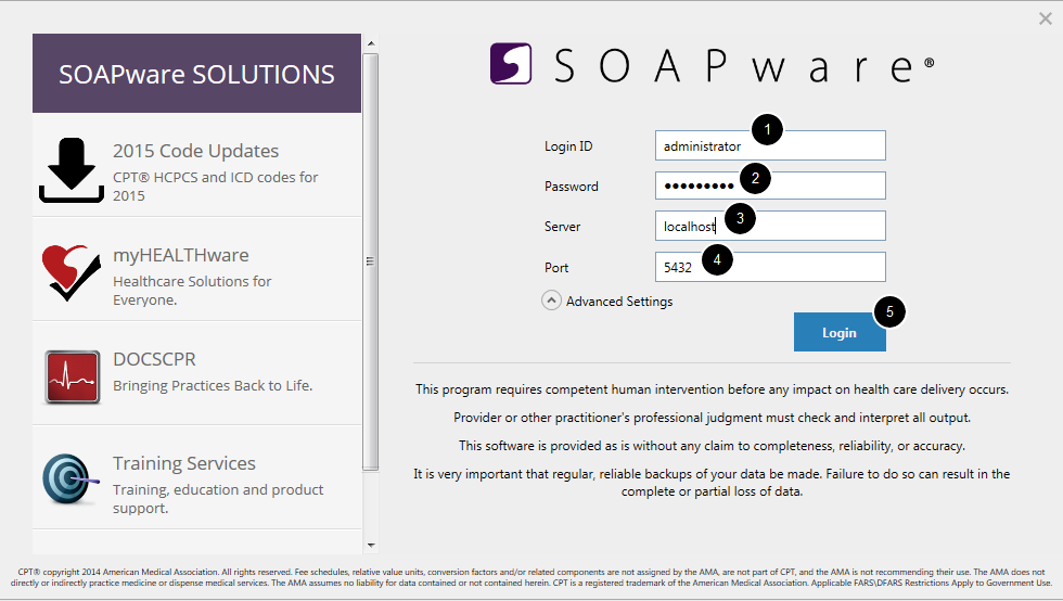 2. Log Into SOAPware as Administrator