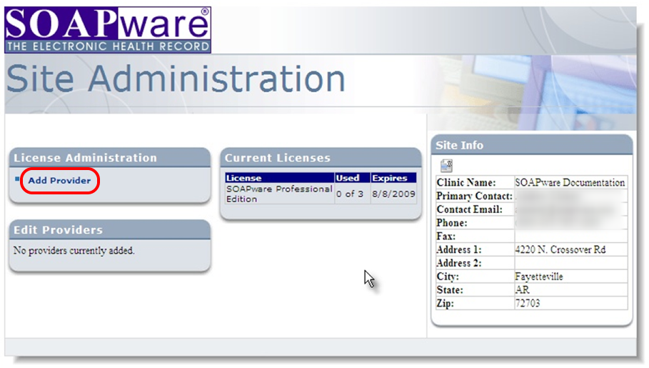 4. Setup Providers in Site Administration