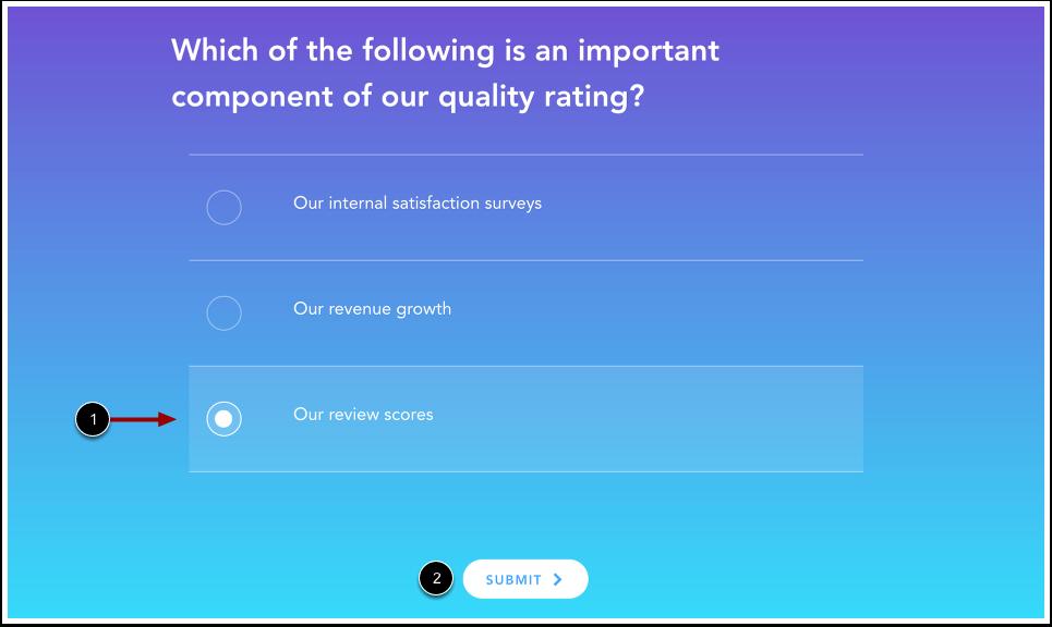 Voir questionnaire avec choix multiples