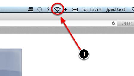 """Tryk på ikonet """"Netværk"""""""