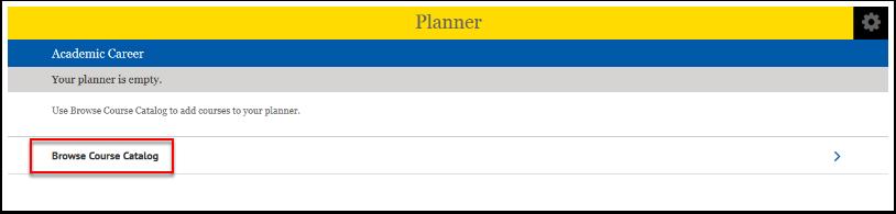 Browse Course Catalog option