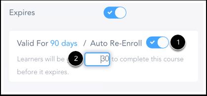 Confirmer Réinscription automatique