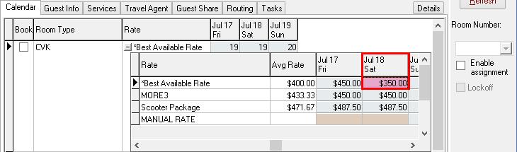 Overriding specific dates