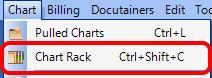 1. Open the Chart Rack