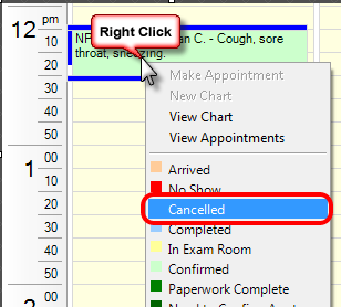 3. Cancel Appointment