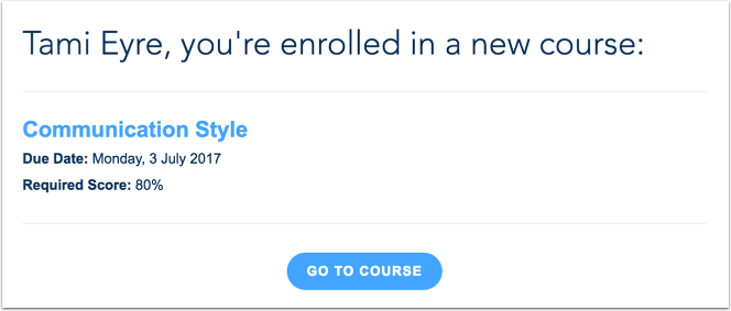 View Notifications for Courses