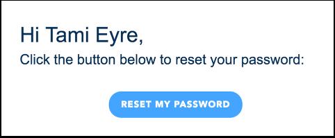 Voir la notification de réinitialisation de mot de passe