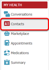 1. Open Contacts