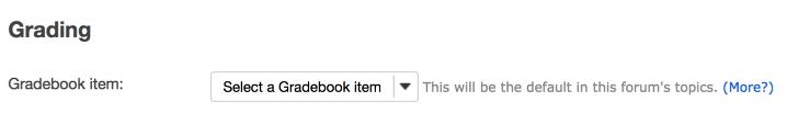 Specify Gradebook item
