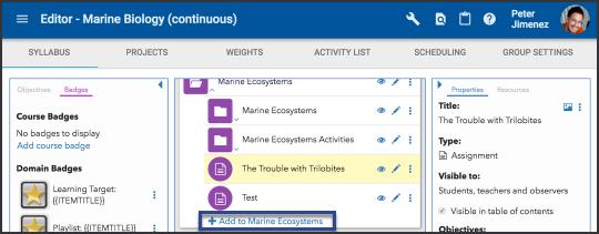 Add an activity