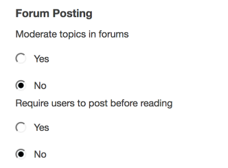 Choose Forum Posting settings.