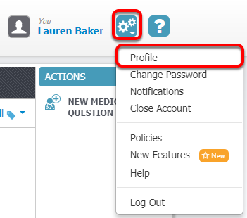 1.  Access Your User Account Profile