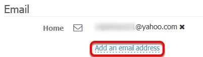 Add an Email Address