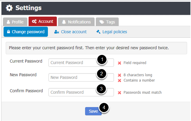 2. Change Your Password